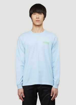 Eden Power Corp Recycled Ocean Long-Sleeved T-Shirt in Blue