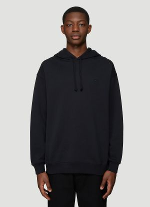 Acne Studios Hooded Oversized Face Patch Sweatshirt in Black