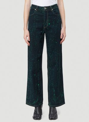 Eckhaus Latta Wide-Leg Jeans in Black