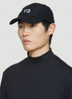 Y-3 Wool Logo Cap in Black