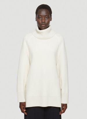 Y-3 Oversized Knit Sweater in White