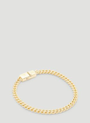 Tom Wood Rounded Curb Thin Bracelet in Gold
