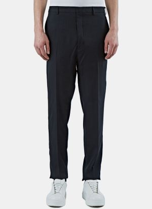 Lanvin Men's Slim Fluid Twill Pants in Black