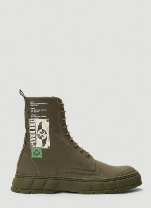 Virón 1992 Recycled Canvas Boots in Green