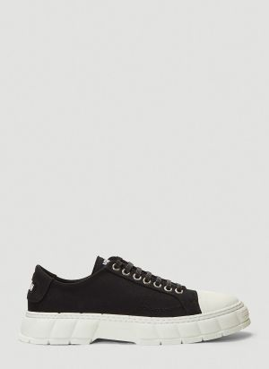 Virón 1968 Recycled Canvas Sneakers in Black