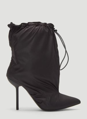 Unravel Project Nylon Drawstring Boots in Black