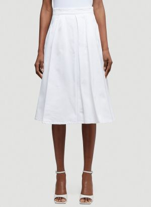 Prada Denim Skirt in White