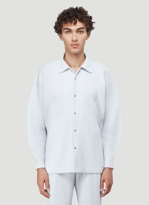 Homme Plissé Issey Miyake Pleated Shirt in Grey