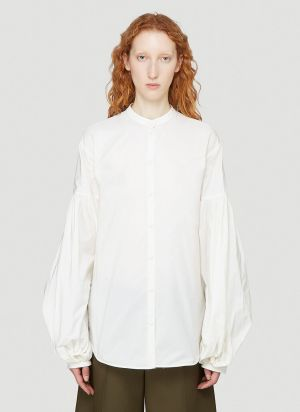 Jil Sander Puff-Sleeved Shirt in White