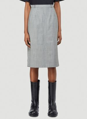 Vetements Prince Of Wales Check Pant Skirt in Grey