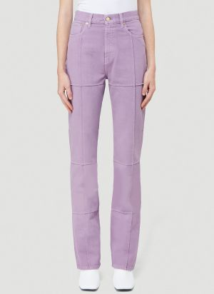 Jacquemus Le De Nimes Carro Jeans in Purple