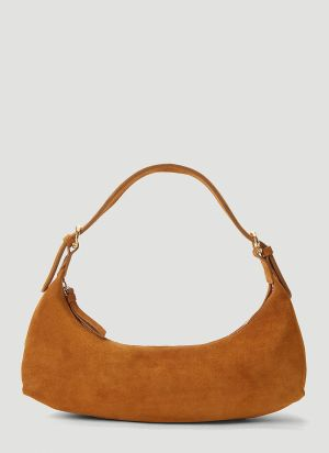 by Far Mara Suede Handbag in Brown