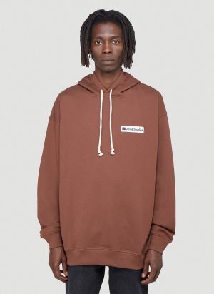 Acne Studios Face Hooded Sweatshirt in Brown