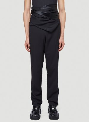 Y/Project Wrap Panel Pants in Black