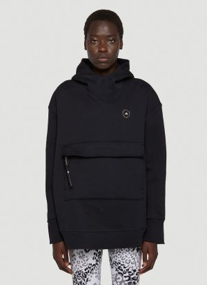 adidas by Stella McCartney Oversized Hooded Sweatshirt in Black