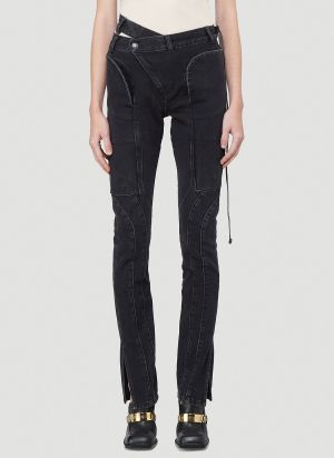 Ottolinger Slim-Leg Wrap Jeans in Black