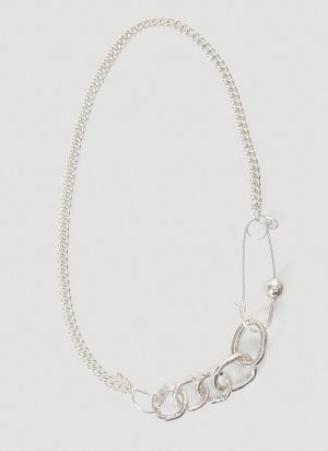 Georgia Kemball Goblin Chain Necklace In Silver