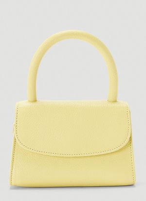 by Far Mini Grained Leather Bag in Yellow
