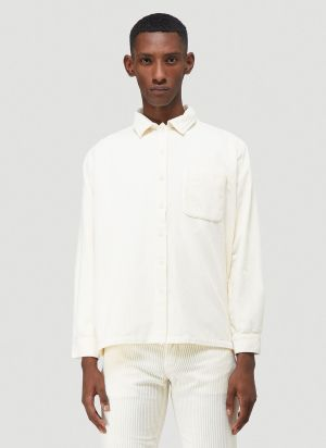 ERL Corduroy Shirt in White