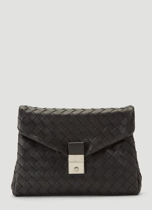 Bottega Veneta Woven Pouch in Black