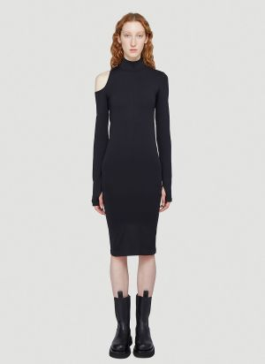 Helmut Lang Cut-Out Dress in Black