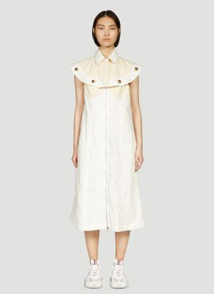 2 Moncler 1952 Detachable-Panel Dress in White