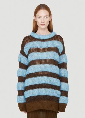 2 Moncler 1952 Girocollo Tricot Sweater in Blue