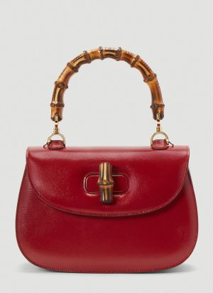 Gucci Bamboo Top Handle Bag in Red