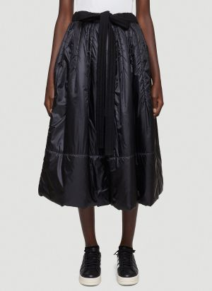 Y-3 Drawstring Padded Skirt in Black