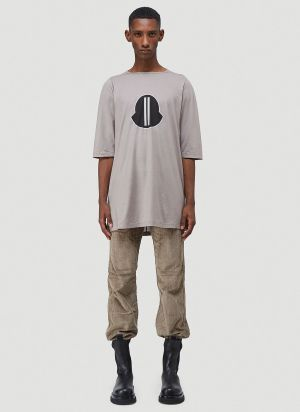 Moncler + Rick Owens Logo T-Shirt in Grey