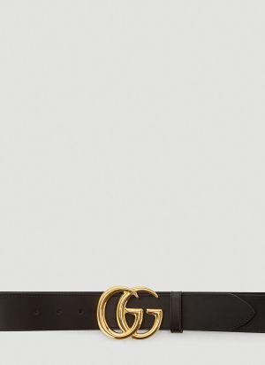 Gucci Large Marmont Leather Belt in Black