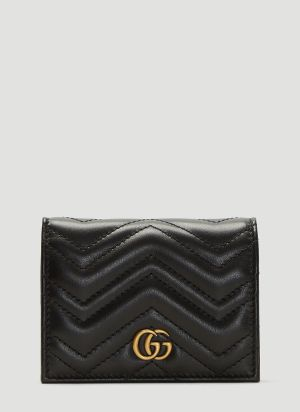 Gucci GG Marmont Card Case Wallet in Black