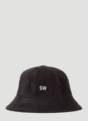 Saintwoods Textured Bucket Hat in Black
