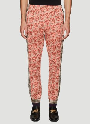 Gucci Contrast Print Track Pants in Orange