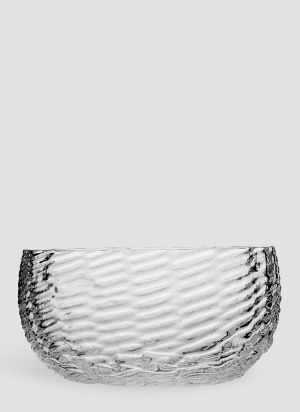 Tre Product Wicker Glass Bowl in White