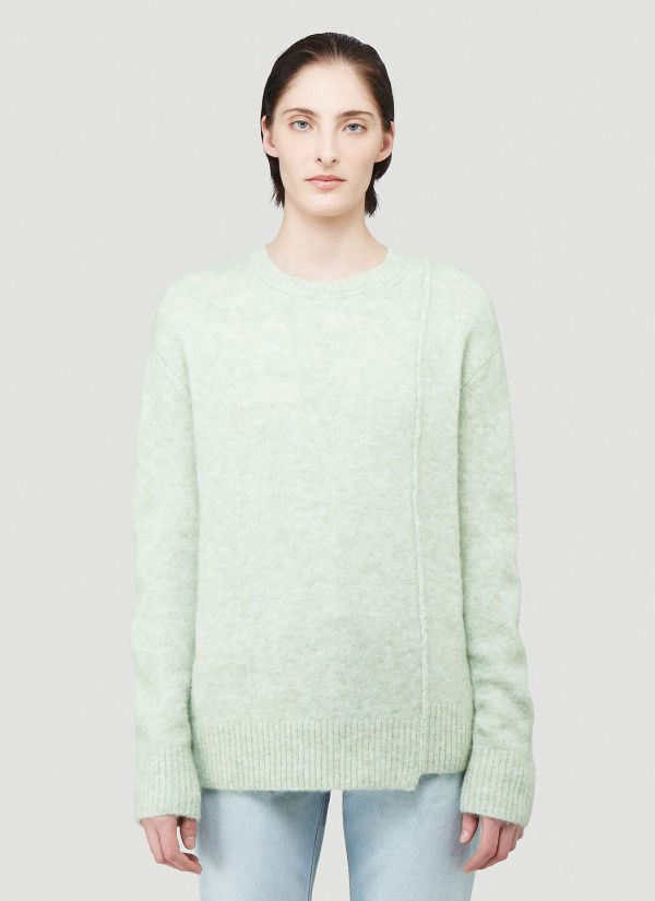 Acne Studios Textured Knit Sweater in Green