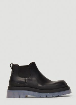 Bottega Veneta BV Tire Ankle Boots in Black