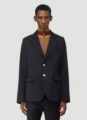 Wales Bonner Blues Tailored Blazer in Black