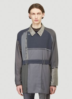 Children Of The Discordance Tailored Patchwork Jacket in Grey