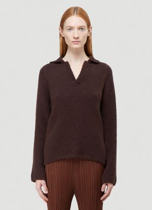 Our Legacy Polo-Knit Sweater in Brown