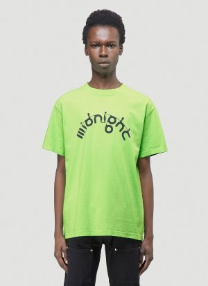 Midnight Studios X Aphex M-Flow Logo T-Shirt in Green