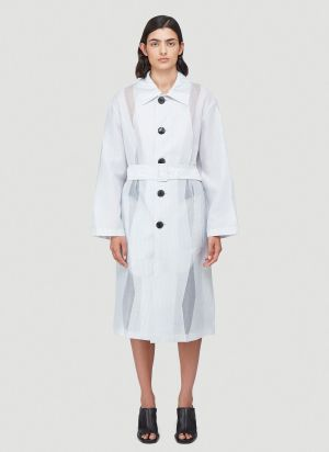 Namacheko Himutski Organza Trench Coat in White