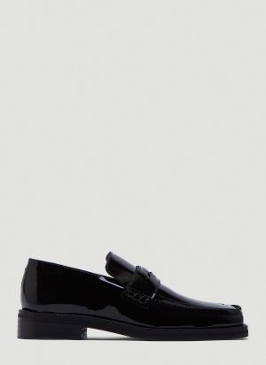 Martine Rose Roxy Patent Loafers in Black