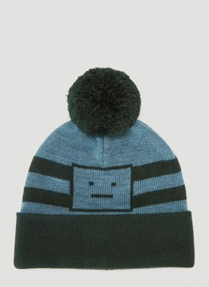 Acne Studios Pompom Beanie Hat in Green