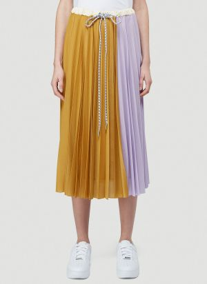 2 Moncler 1952 Pleated Skirt in Yellow