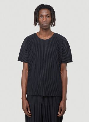 Homme Plissé Issey Miyake Pleated T-Shirt in Black
