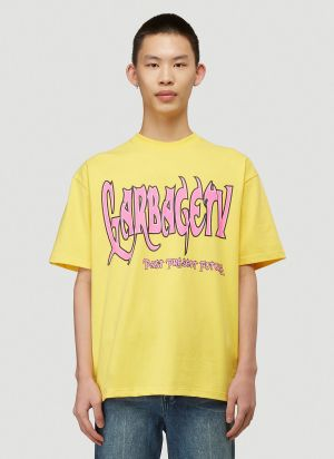Garbage TV Dark Print T-Shirt in Yellow