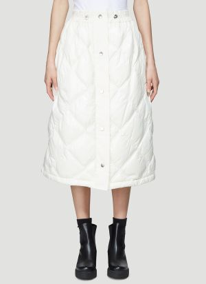 2 Moncler 1952 Puffer Skirt in White