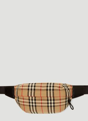 Burberry Vintage Check Belt Bag in Yellow