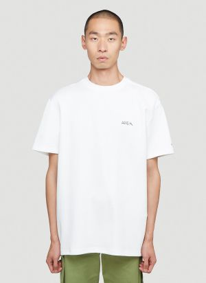 Ader Error Oversized Graphic Print T-Shirt in White